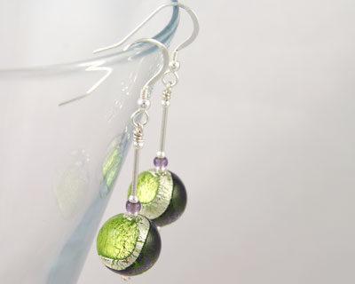 Earrings-Murano-Glass-Green