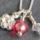 Daisy Charm Pendant Pink Firefrost Designs Jewellery