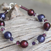 Purple and Amethyst Murano glass bracelet.