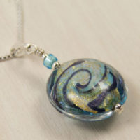 Sparkling Waves Murano glass pendant