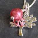Tree of Life with Pink Murano glass charm