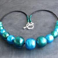 Lakeland Waters Murano glass necklace