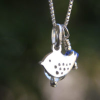 Bluebird day pendant with crystal and blue charms