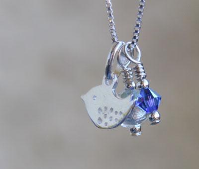 Bluebird Charm Pendant Firfrost Designs Jewellery