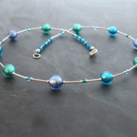 Lakeland Waters Murano glass necklace