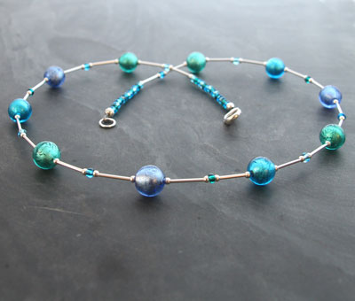 Lakeland-Waters Murano-glass necklace