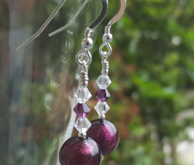 Carina Murano glass earrings Lakeland heather
