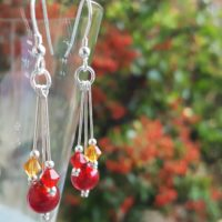Murano glass earrings Autumn