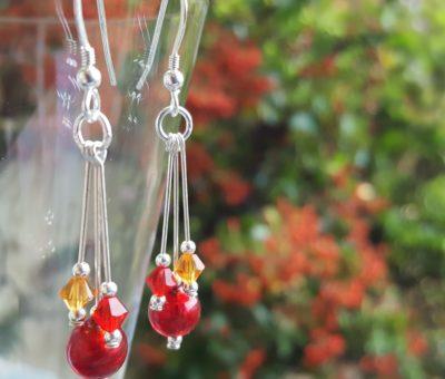 Murano glass earrings Autumn