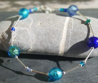 Lakeland Waters Murano glass bracelet