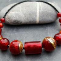 Murano glass necklace Lakeland Sunset