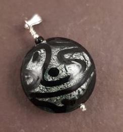 Medusa Pendant Black Firefrost Designs Murano Glass