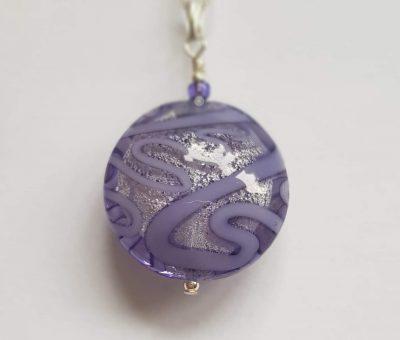 Medusa Purpla Pendant Firefrost Designs Murano Glass