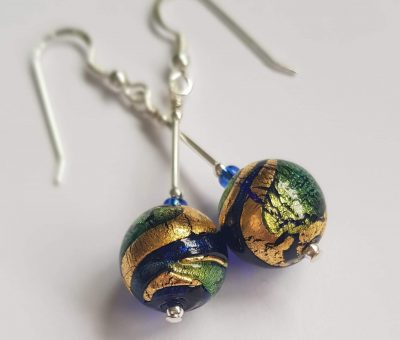 Regale Earrings Firefrost Designs Murano Glass