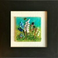 Fused Glass Delphiniums Picture